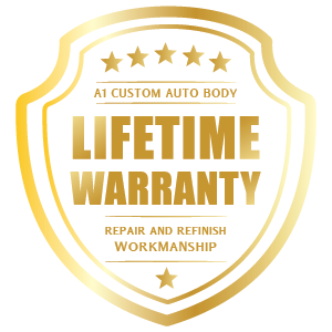 A1 Custom Auto Body offers a lifetime warranty on repair and refinish workmanship